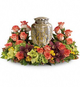 Sunset Wreath for Urn