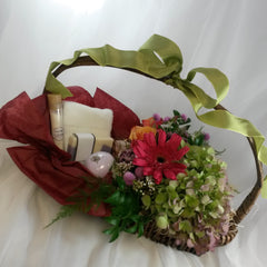 Floral  spa gift basket