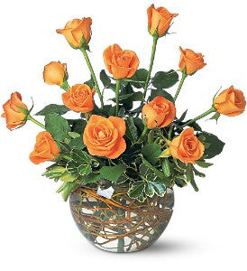 Orange Rose Bowl