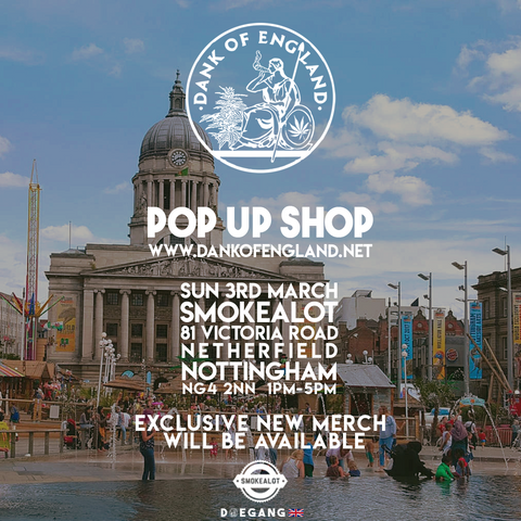 Dank Of England Pop UP Nottingham