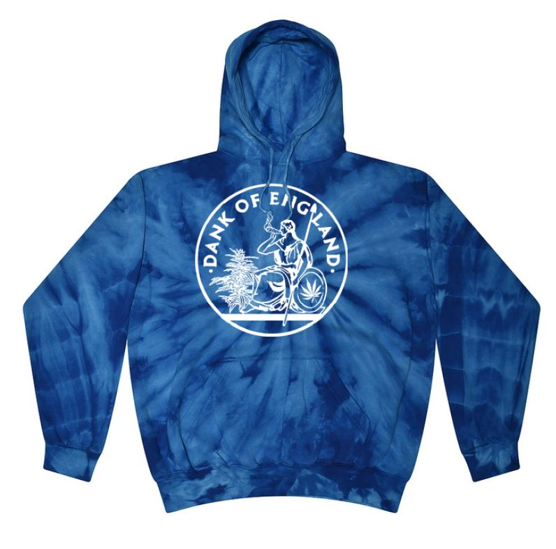 DOE OG HOODY TIE DYE ROYAL OCEAN BLUE