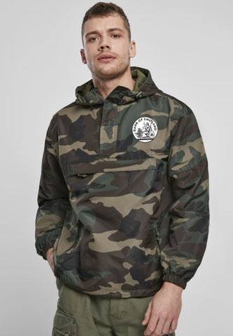 DOE CAMO WINDBREAKER PULLOVER JACKET