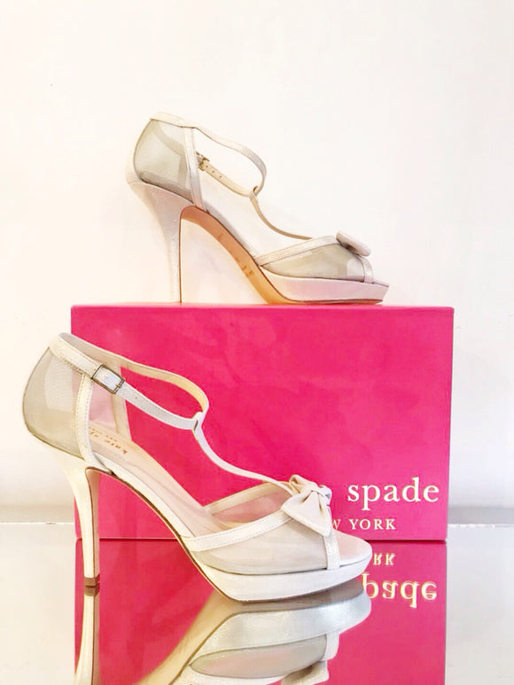 Kate Spade Gold Shimmer Holiday Heels | Size 8.5
