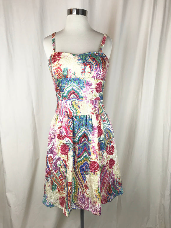 Kay Unger Psychedelic Paisley Dress