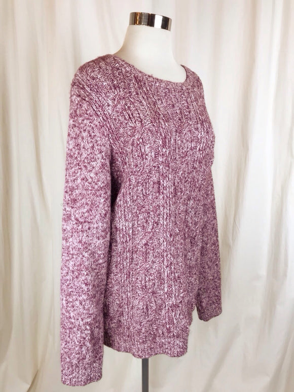 Tommy Hilfiger Pink Cableknit Sweater | Size Large