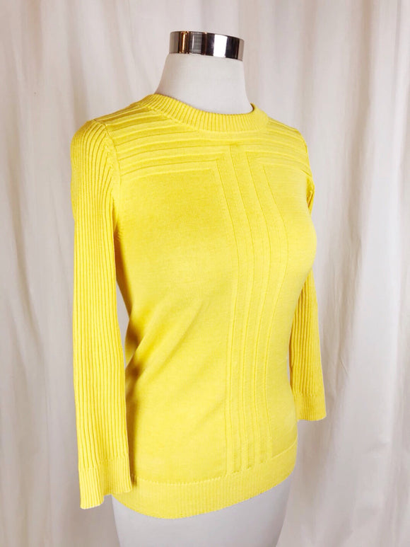 Marc Jacobs Yellow Vintage Style Sweater | Size Small