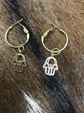 WISH Hamsa Hand earrings.