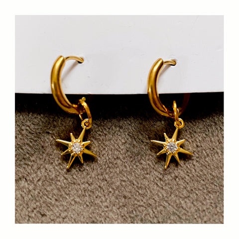Petite star huggie earrings