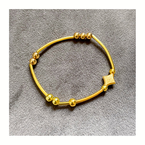 Plain gold plated bangle