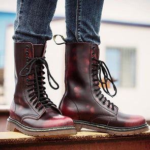 High Quality  Leather Winter Ankle Boots For  Women/Men