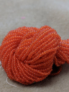 czech-bead-11-0-Dark Orange Transparent-122T
