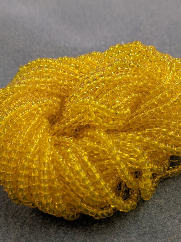 Czech Beads 8/0 Yellow TR Matte 143T