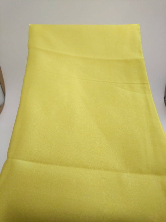Yellow Satin Scarf