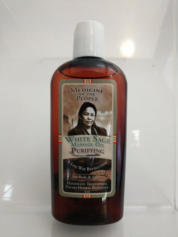 White Sage Massage Oil 4oz.