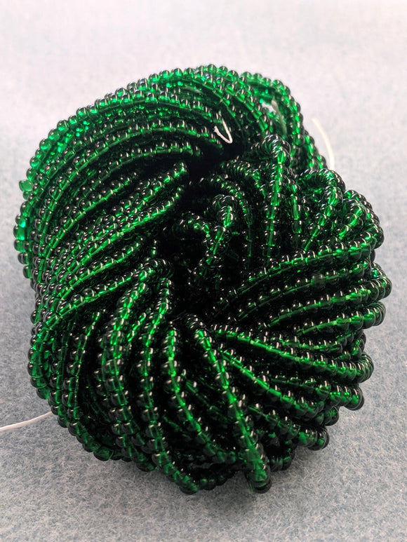 Czech Beads 8/0 Green Transparent 212T