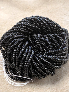 Czech Bead 11/0- Black 1