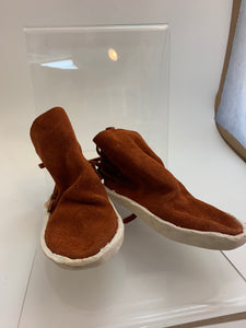 Child Hard Sole Rust Colored Moccasin