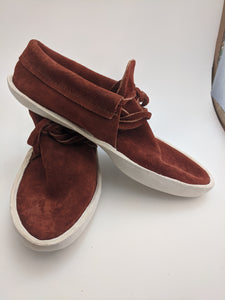 Front Tie Low Cut Rust Colored Moccasins