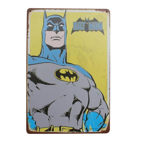 Plaque Metal Vintage BatMan