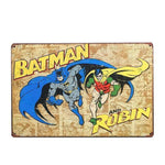 Plaque Metal Vintage Batman & Robin