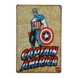 Plaque Metal Vintage Captain America