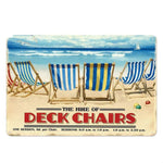 Plaque Metal Vintage Deck Chairs