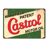 Plaque Metal Vintage Garage Motor Oil (Castrol)