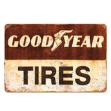 Plaque Metal Vintage Good Year Tyres