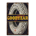 Plaque Metal Vintage GoodYear