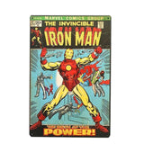 Plaque Metal Vintage Iron Man