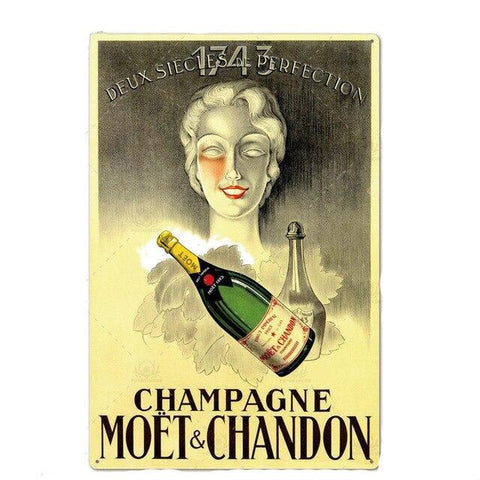 Plaque Metal Vintage Moët et Chandon