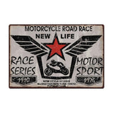 Plaque Metal Vintage Moto (Race series)