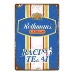 Plaque Metal Vintage Rothmans Racing