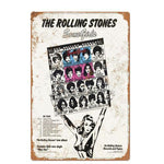 Plaque Metal Vintage The Rollings Stones