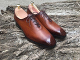 Camel Brown Oxford Shoes