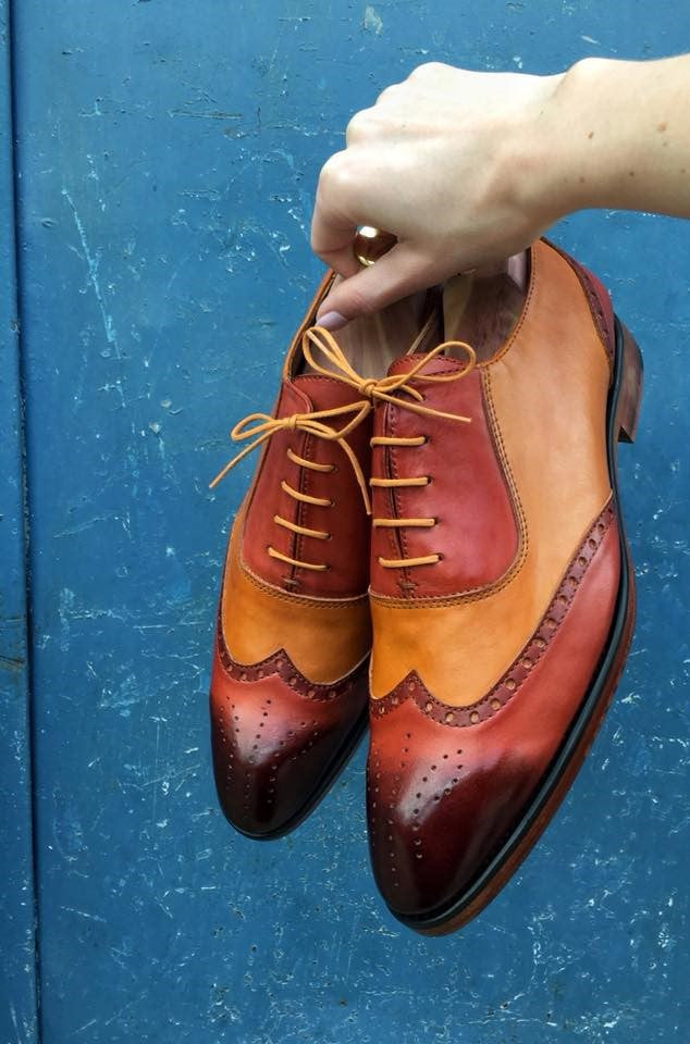 Reddish Shades Wingtip Tailored dress  Oxford Shoes