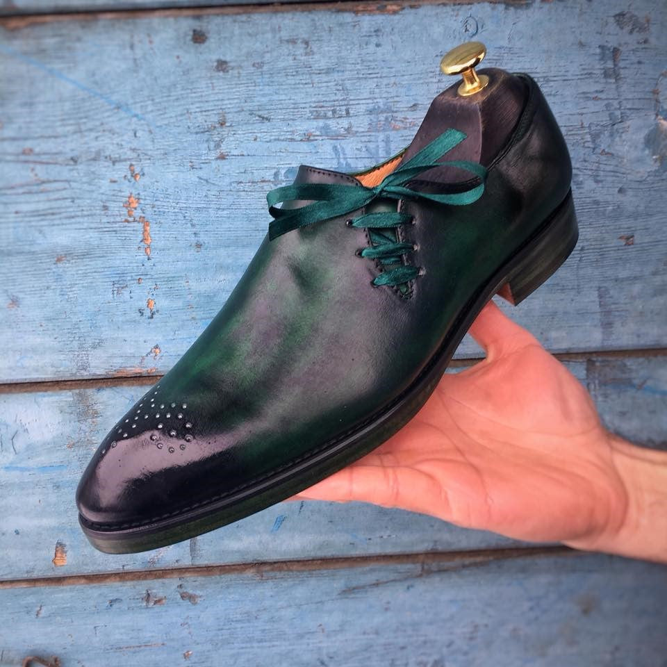 Green Patent Oxford Shoes