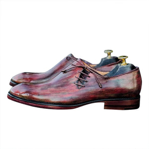 Smart casual leather men's Oxford  shoes