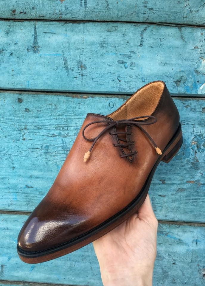 Shades of Brown Patent Classy Oxford Shoes