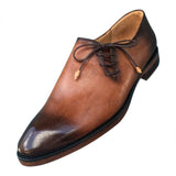 Brown Oxford leather classic shoes for men