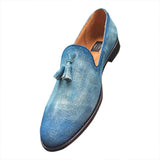 Loafers men's shoes hand painted
