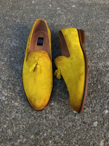 Loafers Made of bovine leather hand-painted