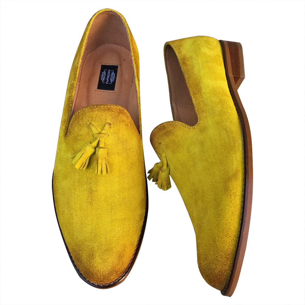 Yellow Suede Leather Loafers – OmnisShoes