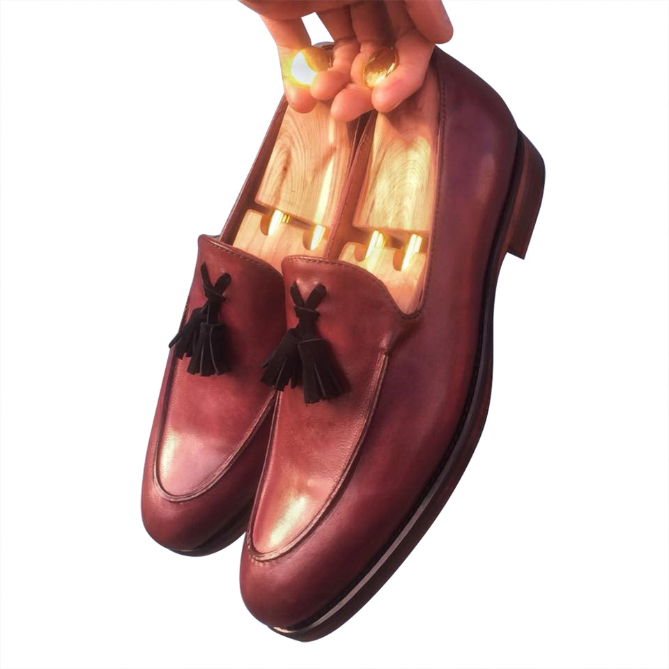 Men's shoes Loafers leather no lace
