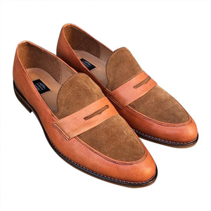 Classy Loafers shoes brown leather for men
