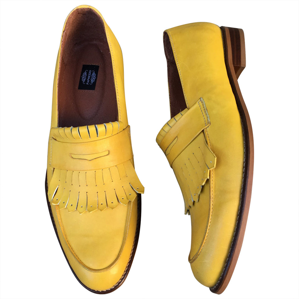 Summer Loafers leather hand made shoes for men