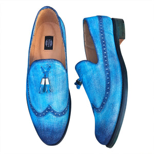 Loafers  men's shoes hand made painted
