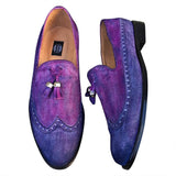 Genuine leather men shoes handcrafted and painted