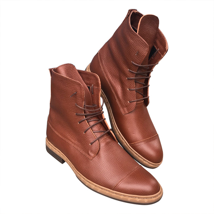 Men's brown leather boots