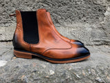 Chelsea Leather Boots Brown and Black